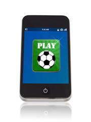 Fußball App auf einem Smartphone