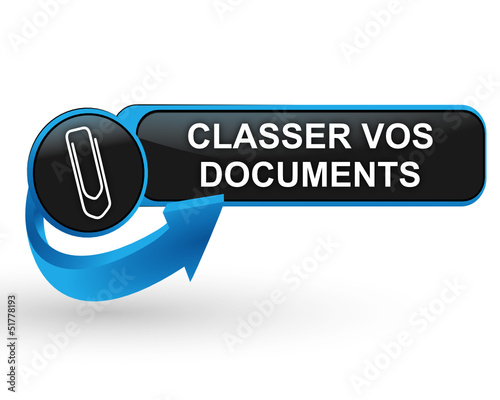 classer vos documents sur bouton web design bleu