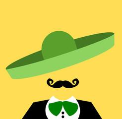 mariachi musician with green sombrero