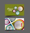 business card, vector