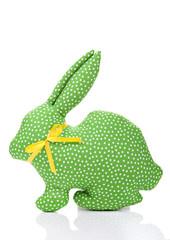 Green textile rabbit
