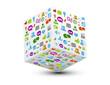 cube 3d icônes web