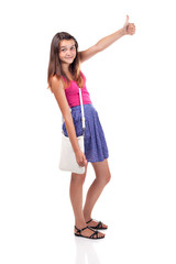teenages girl in casual
