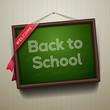 Back to school, written on a blackboard, vector Eps10 image
