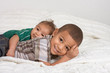 Two multiethnic boys brothers