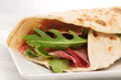 piadina with rocket and Parma ham