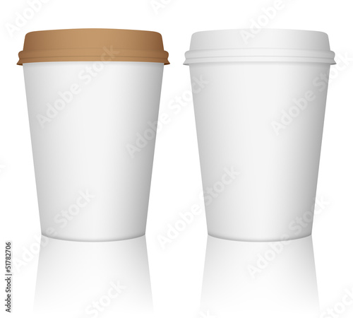paper coffee cup set