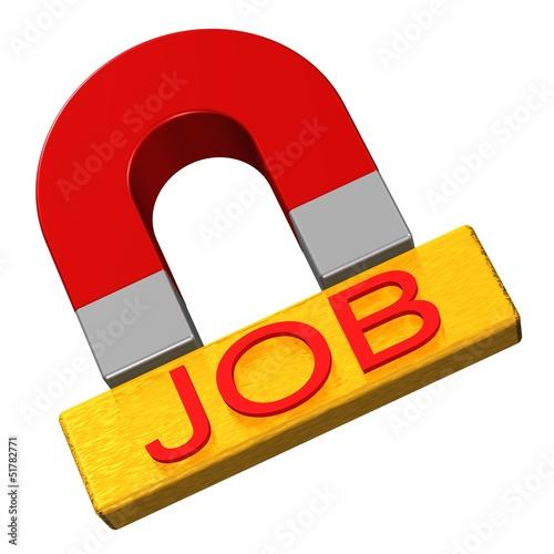 Job - Magnet mit Textfeld