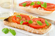 bread with fresh tomato