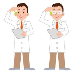 科学者と試験管