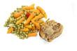 petits pois et carottes et paupiette