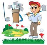 Image with golf theme 6