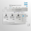 Grey abstract website template
