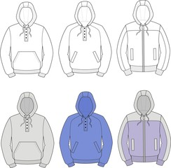 Vector illustration of men's smocks