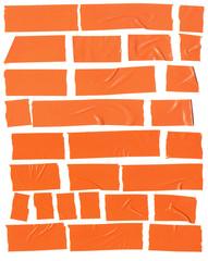 adhesive large  orange plastic  tape