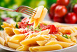 canvas print picture - penne pasta
