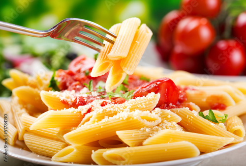 canvas print picture penne pasta