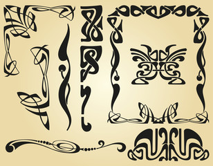 Art Nouveau design framework and elements