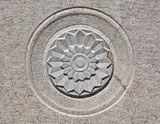 Carved Flower design on Stone