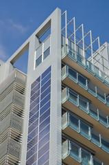 Pannelli solari su grattacielo