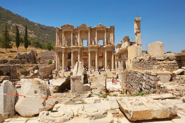 Facade of the library of Celsus