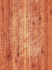 scratched wood
