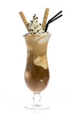 Fototapety Iced coffee on white background