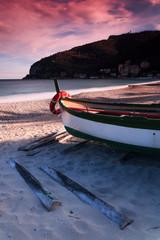 Barque de pêcheur à Noli en Italie