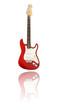 E-Gitarre mit Spiegelung, rot