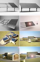 3d pannelli solari appartamento rendering 3d architettura