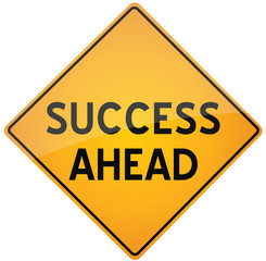 road sign - Success Ahead