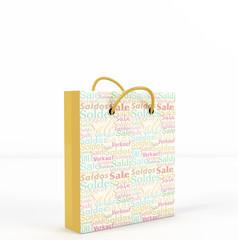 3d render of Sale Bag