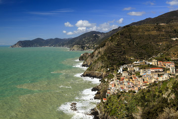 Village de Riomaggiore en Italie