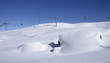 snow waves and chair lift, Arabba