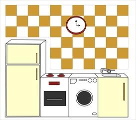 dibujo de una cocina