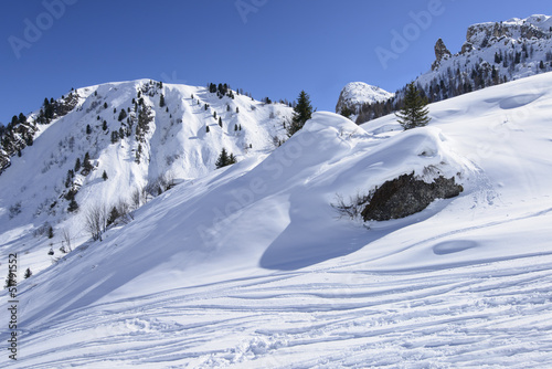 winter white slope, Arabba