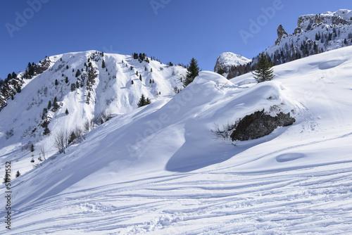 winter white slope, Arabba