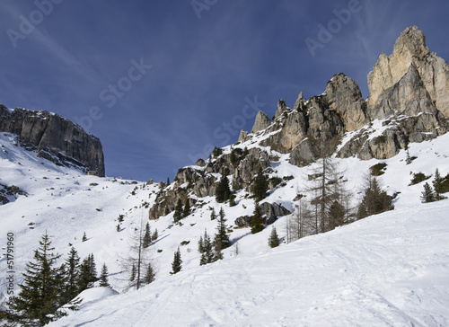 Dolomites stones and cliffs, Corvara