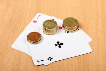 Cards and coins