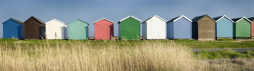 Colourful Beach Huts
