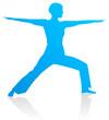 Yoga - Heldenstellung (Vira Bhadrasana)