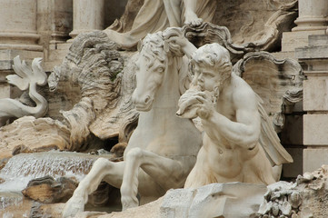 Horse and Angel at Trevi Fountain