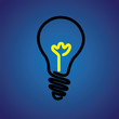Colorful incandescent light bulb icon symbol- vector graphic