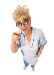 Funny mature doctor with nerd glasses