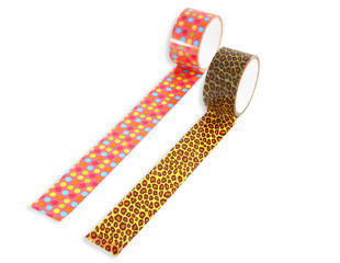 Two rolls of packing tape, Spotted Leopard  Duct Tape, tape rain
