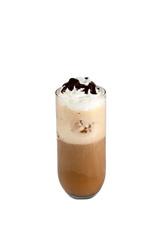 Capuchino helado con nata y sirope de chocolate