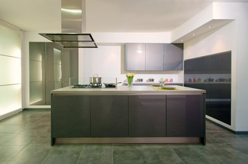 cuisine moderne grise  # 23