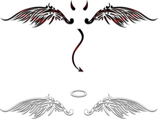 Angel and devil vector for you design