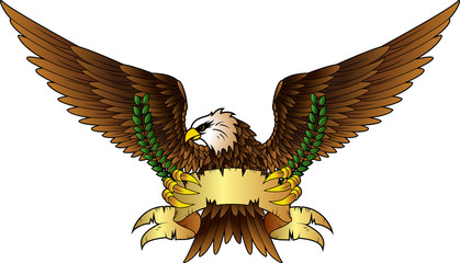 eagle with ribbon for you design