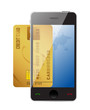 smartphone with credit card,